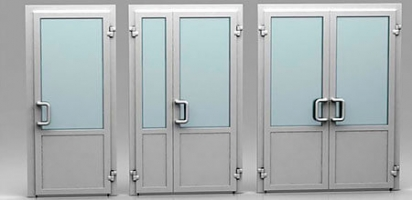 Рентгенозащитные двери С1 размер 1060x1300, высота 2050 мм