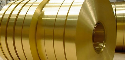 Латунная лента Л63 ширина 300 мм, толщина, 0,8 мм